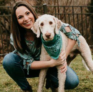 Katy and dog